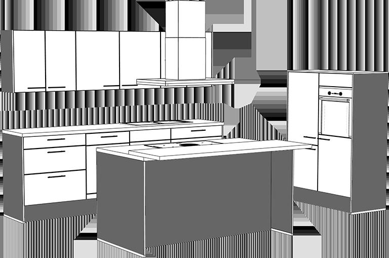 Küchen Korpus-Dekore