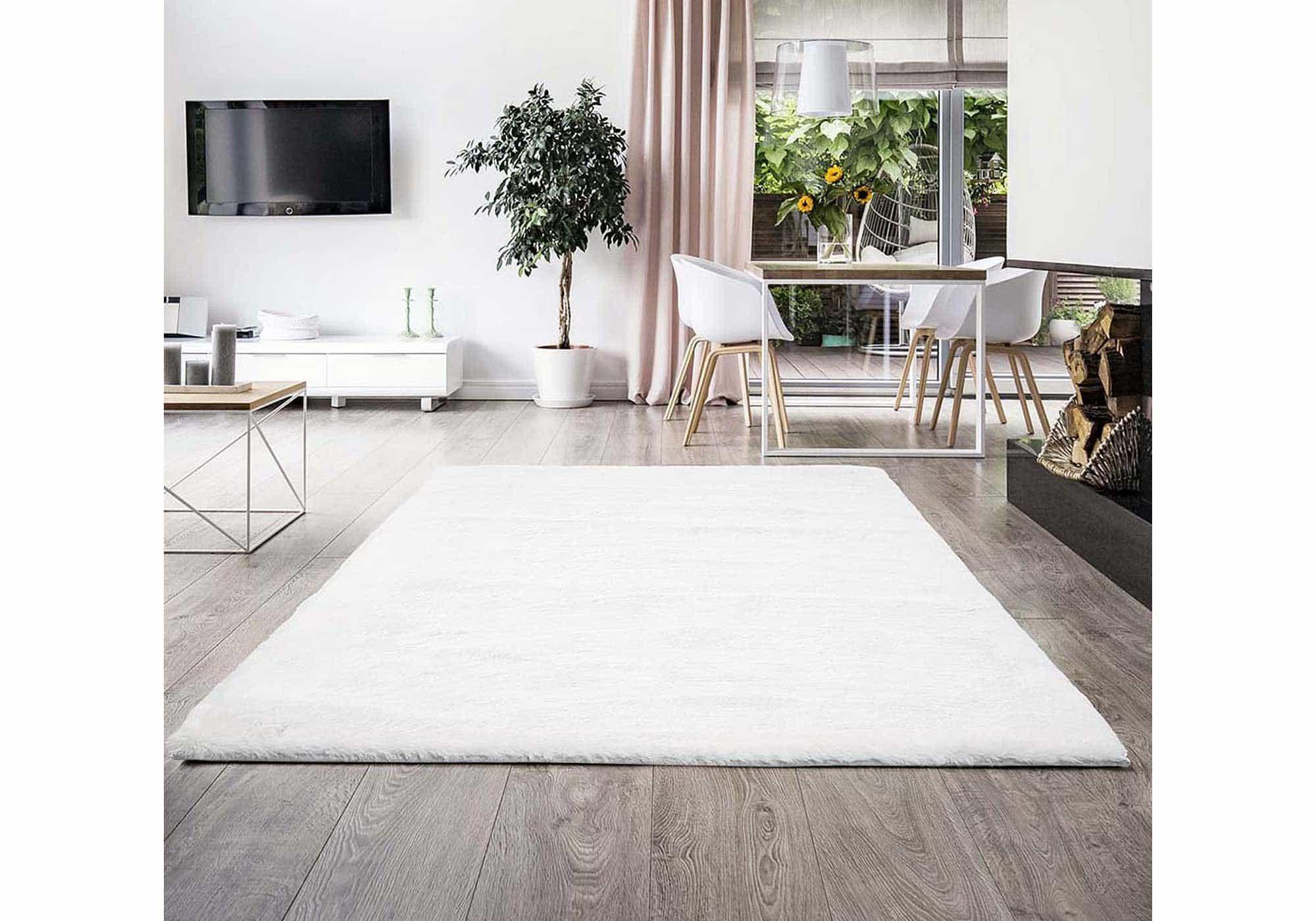 Hochflor-Teppich natur 80 x 150 cm - Soft Touch 900