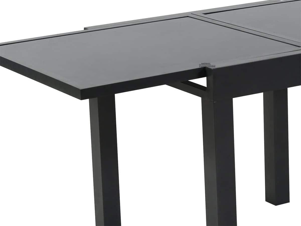 Gartentisch rechteckig schwarz 180 x 90 cm -NIKA