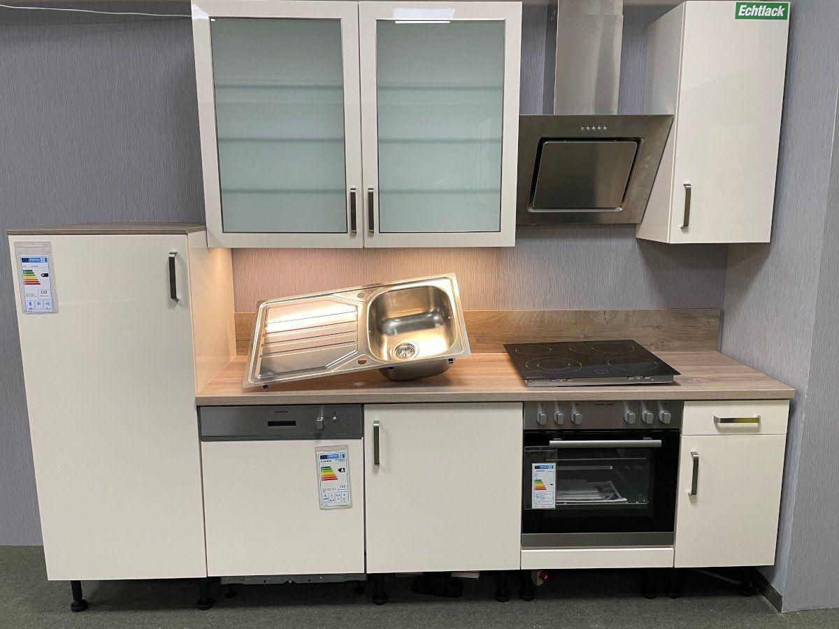 Ausstellungsküche - 280 cm - inkl. Geschirrspüler - Küchenfront hochglanz Lack - ARCTICA