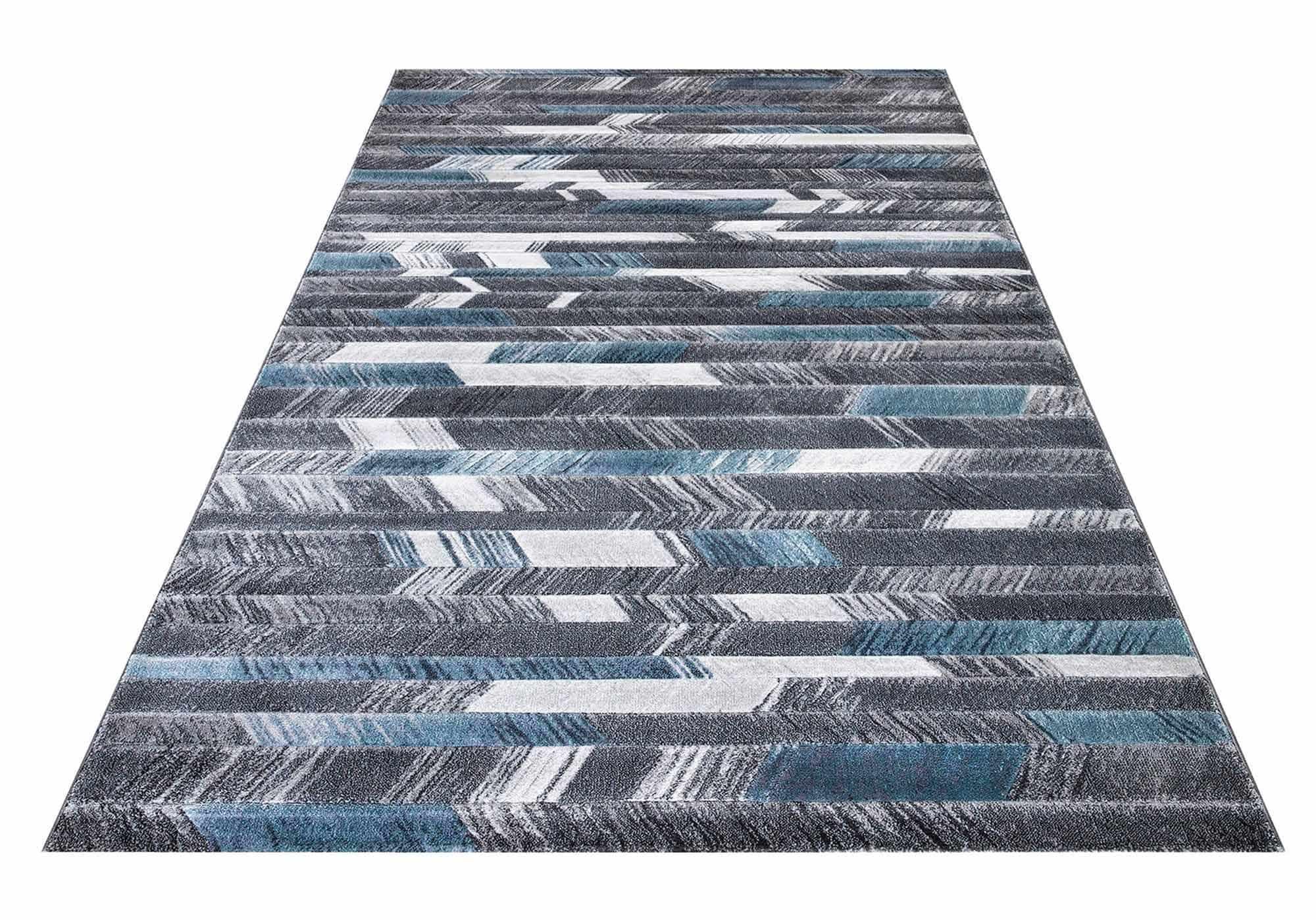 Teppich 160 x 230 cm - blau - Kurzflor - rechteckig - Mykonos
