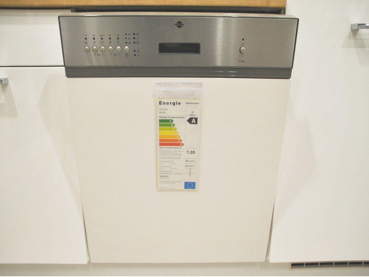 L-Küche 245 x 245 cm hochglanz - weiß - San Remo Eiche - LUX