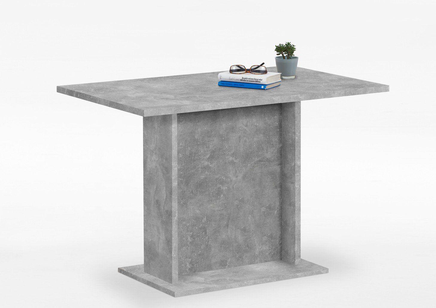 Esstisch 110 x 70 cm Betonoptik - BANDOL 3