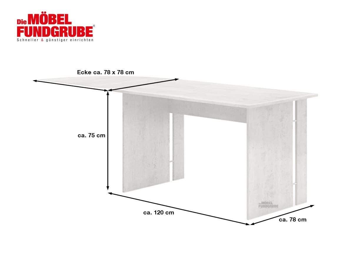 Schreibtisch Betonoptik 120 cm - BONN