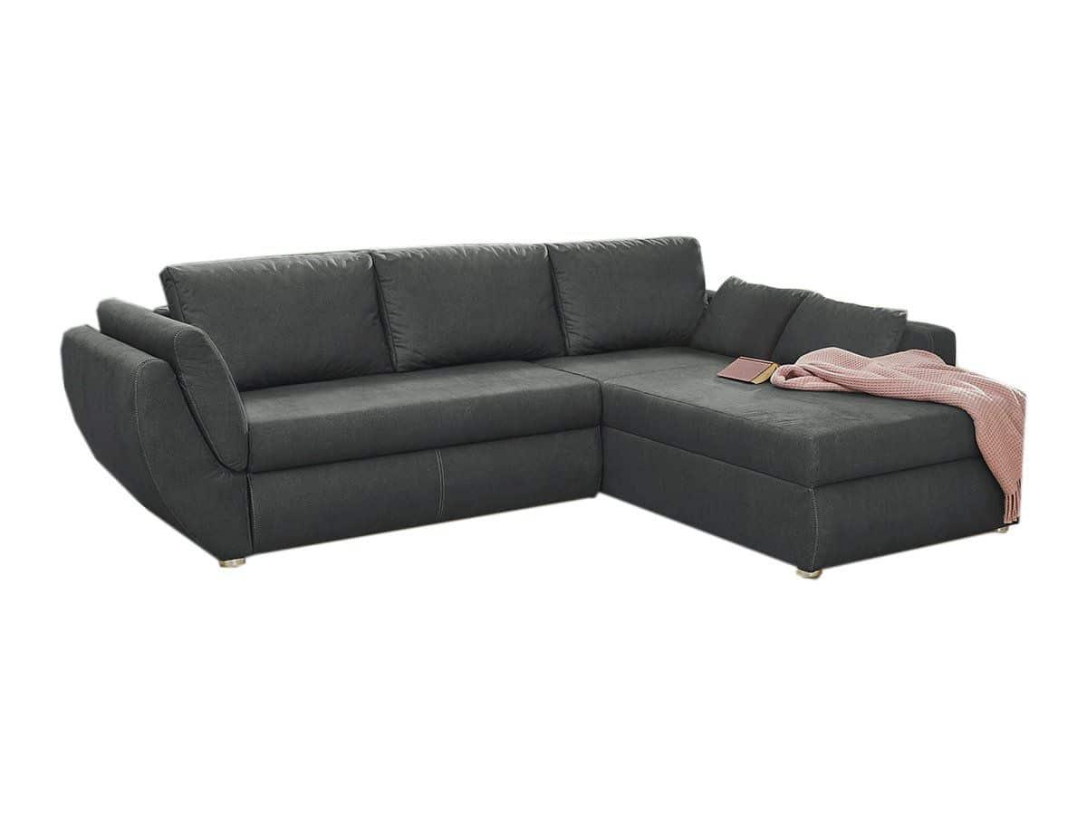 Ecksofa mit Schlaffunktion grau 272 x 200 cm - TYLER