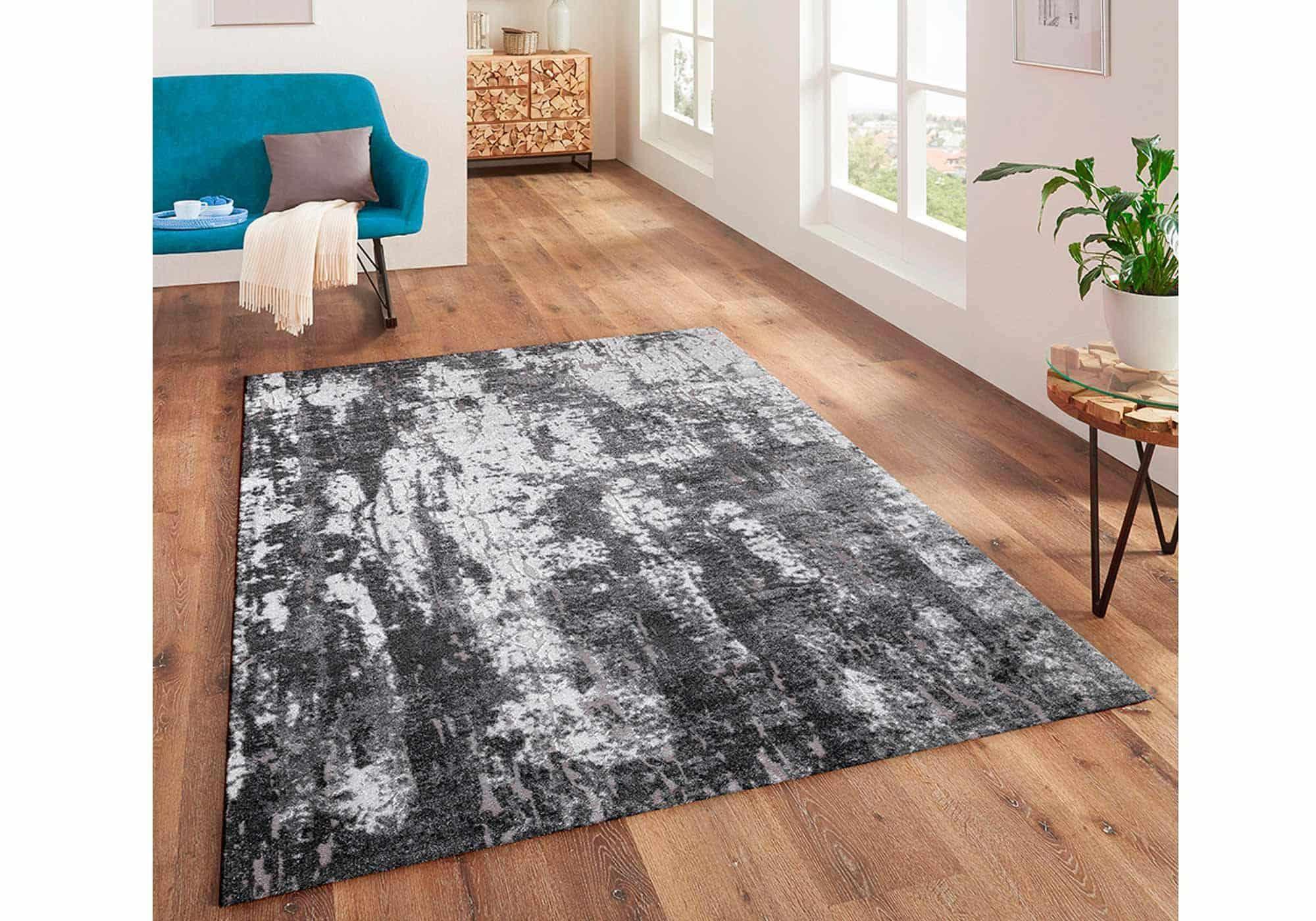 Teppich 200 x 290 cm anthrazit Hoch-Tief-Effekt - Mumbai 130 Grey