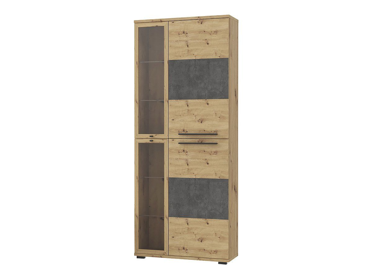 Vitrine mit Glastüren Artisan Eiche Höhe 200 cm - ALLISTER
