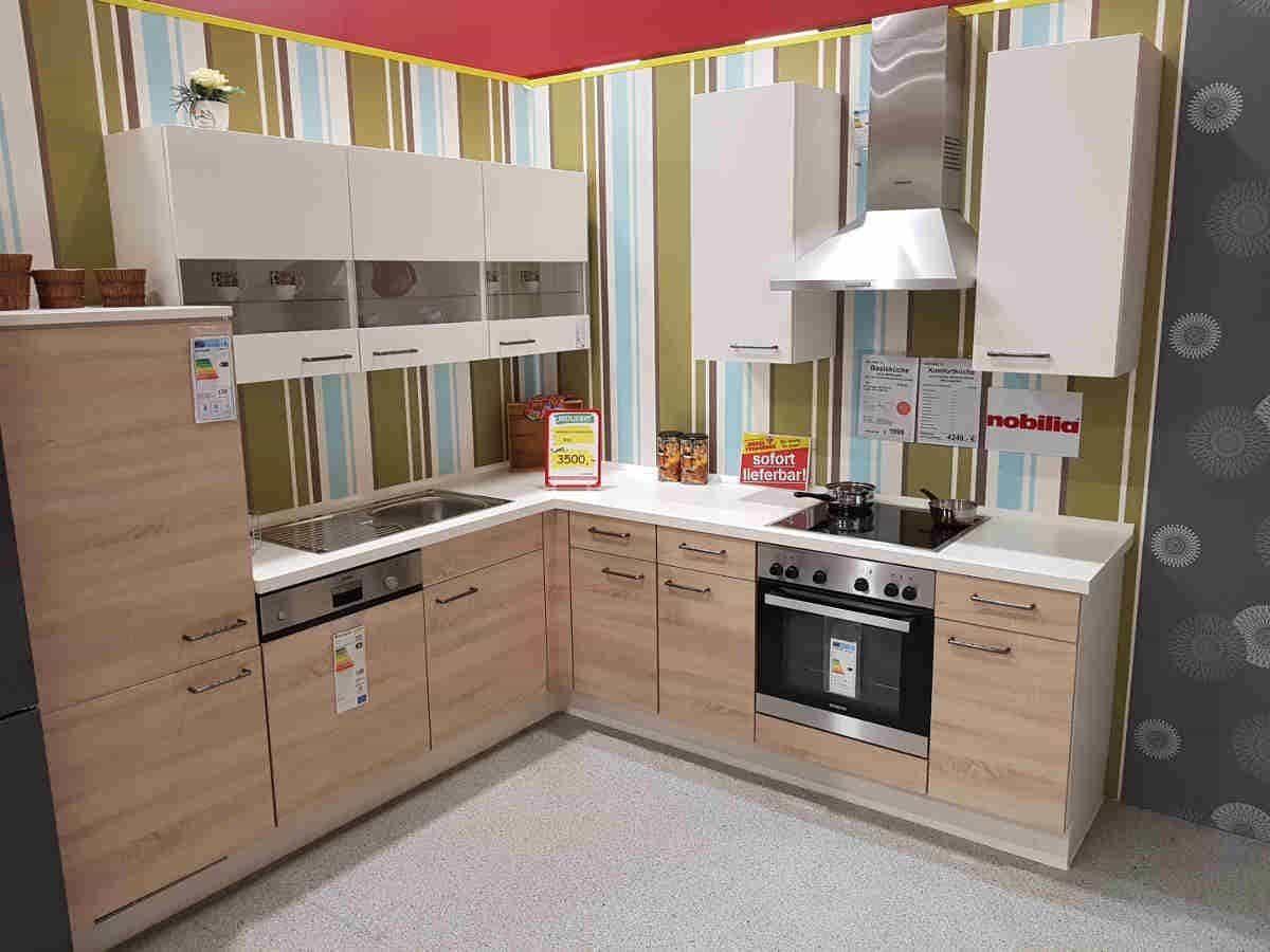 Ausstellungsküche 245 x 247 cm - inkl. Geschirrspüler - Küchenfronten matt - RIO