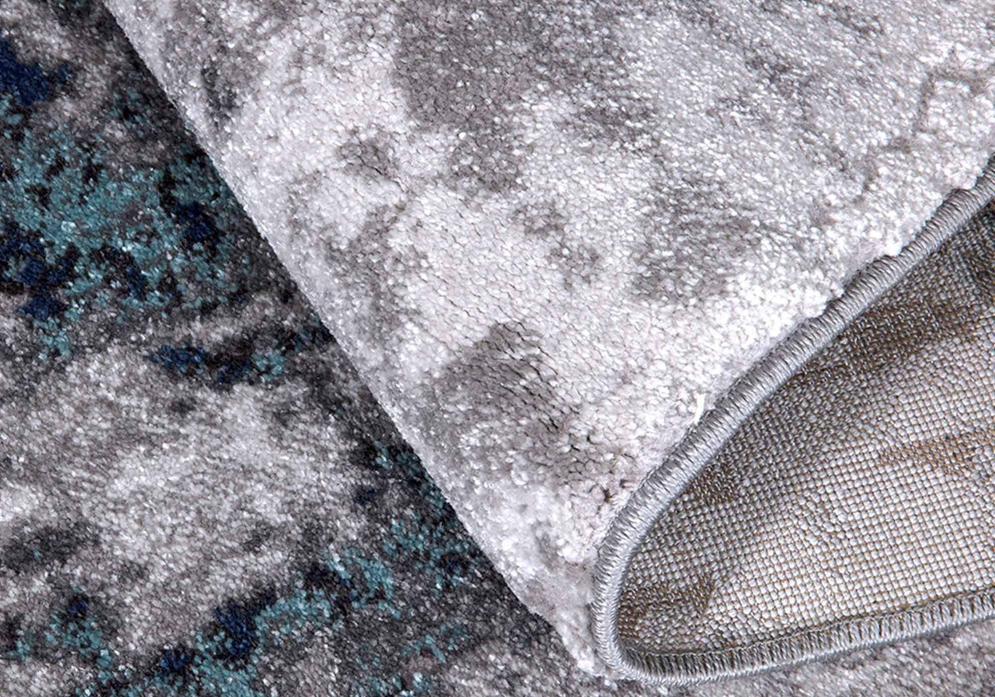 Teppich 160 x 230 cm - Hoch-Tief-Effekt - Mumbai 130 Blue