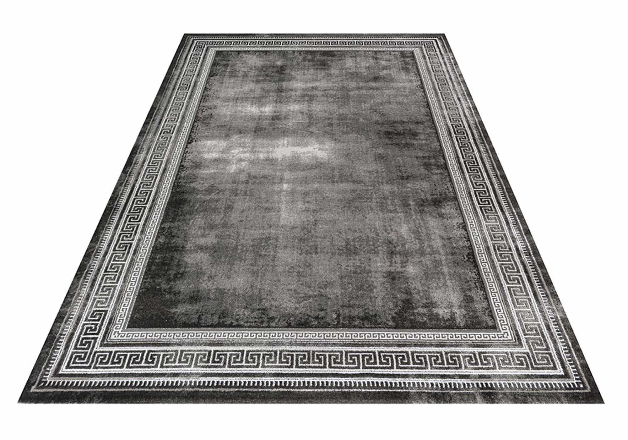 Teppich 160 x 230 cm - Marmor Optik - 11 mm Höhe - grau - Opal 720