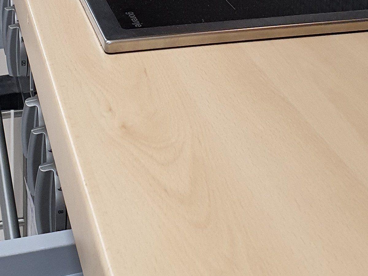 Eckküche 175 x 280 cm matt - Vanille - DELTA
