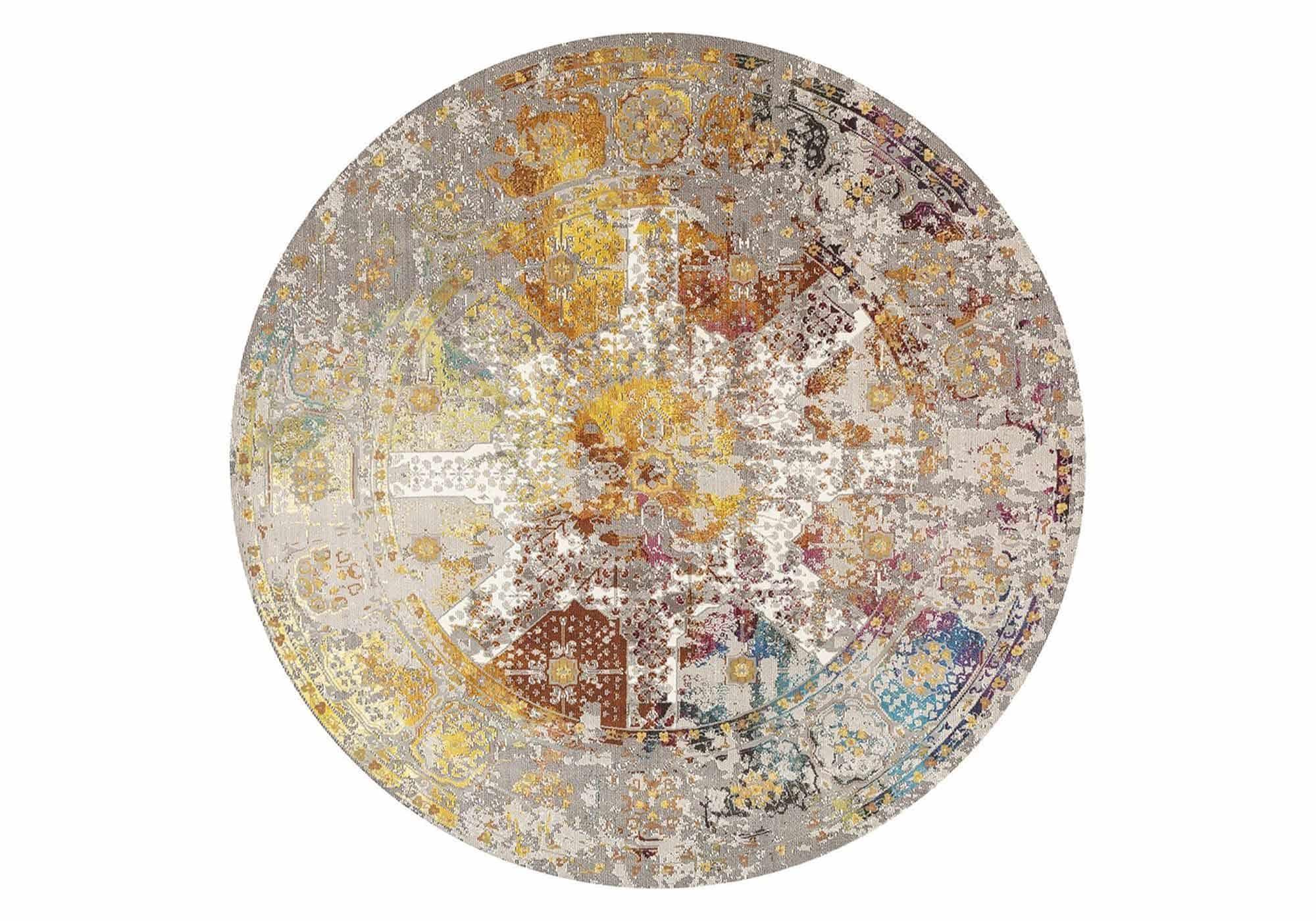 Festival Teppich - rund - 200 cm - mehrfarbig - Picasso 597 Feraghan