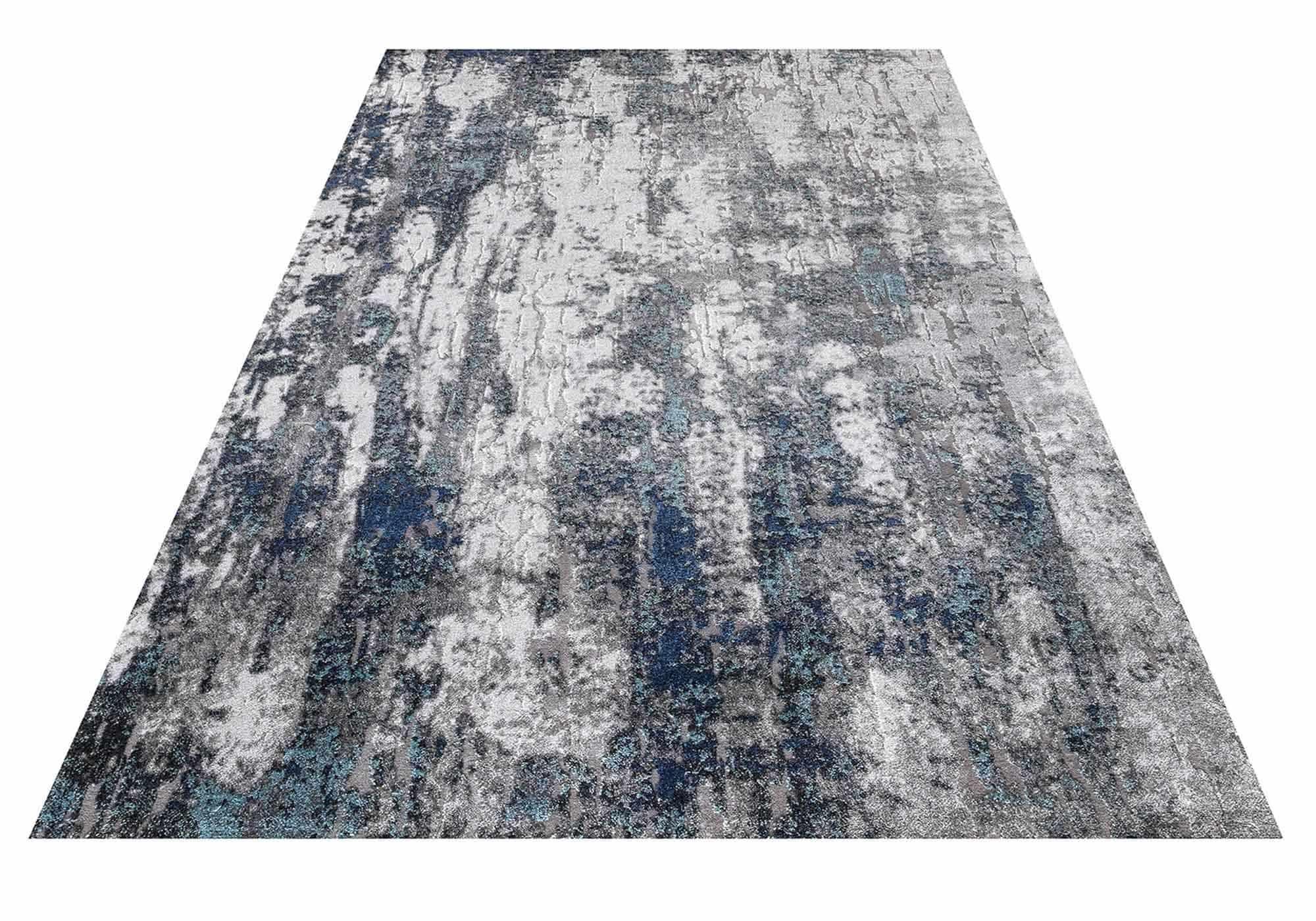 Teppich 120 x 170 cm - Hoch-Tief-Effekt - Mumbai 130 Blue